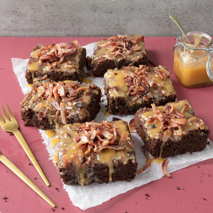 Bacon caramel brownies